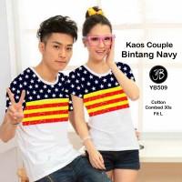 Kaos Couple/ Kaos Pasangan/ T-shirt/ Tee Bintang-YB (sepasang)