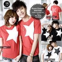 Kaos couple / kaos pasangan / t-shirt / tee bintang