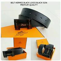 Belt HERMES Black Logo Black Premium Kode 021A
