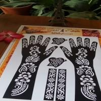 Cetak Tangan Tato Henna Cetakan untuk body art / pengantin