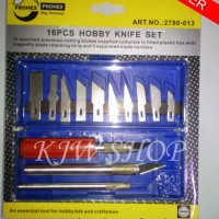 Jual Pisau Ukir Pahat Kayu Set / Hobby Knife Set 16pcs PROHEX (GERMANY) Murah