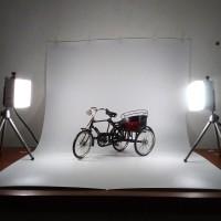 Decosit Background Foto Studio 300x124 cm Putih [Packing Kayu]