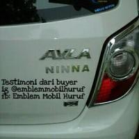 Emblem mobil huruf/angka untuk Astra Daihatsu Ayla/ Toyota Agya