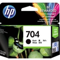 Cartridge Tinta HP 704 Small Black Hitam (s/d 480 pages)