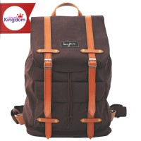 Jual Alphonse Brown Bonjour / Tas Ransel Laptop Canvas / Katun Murah