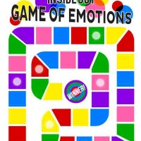 Boardgame INSIDE OUT. Mainan ular tangga Disney Pixar Game of emotion1