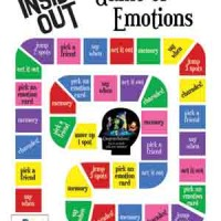 Boardgame INSIDE OUT 2. Emotion Game. Mainan ular tangga Disney Pixar