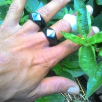 ring cicin black jade,, model cuting ketupat
