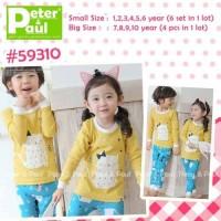 Bjsbl Piyama Anak : Piyama Pipo 59310 Yellow Cat (size 1-6th)
