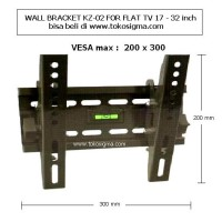 harga Wall Bracket Kz-02 For Flat Tv 17 - 32 In Tokopedia.com