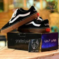 harga Sepatu Vans Golf Wang Black Sol Gum IFC Cowok Keren Full black Tokopedia.com