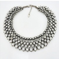 Aksesoris Zara Crystal Necklace Kate Middleton