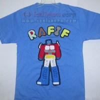 Kaos / Baju Nama Flanel Anak Kartun Transformer Lucu Murah (2-3thn)
