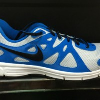 Nike Revolution 2 MSL sepatu running nike jogging original blue-grey