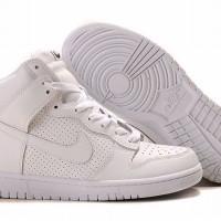 Sneaker Wedges sepatu wedgess nike dunk sky high white gold kpop korea