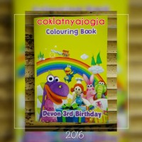 Souvenir Activity Book Tema Dibo the Gift Dragon