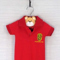 Baju pakaian bayi Laki Cowok merah red polo baby boy jumper porche