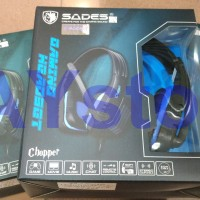 Headset Gaming Sades SA- 711 Chopper Garansi 1 tahun MURAH berkualitas