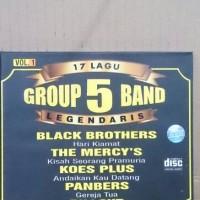 CD ORIGINAL 17 LAGU GROUP 5 BAND LEGENDARIS VOL. 1