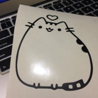 Pusheen Cute Cat Macbook Decal Sticker
