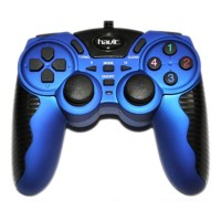 HAVIT HV-G82 USB 2.0 Wired 3D Double Vibration Gamepad - Biru