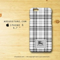 Burberry London Pattern BW iPhone Case 4 4s 5 5s 5c 6 6 Plus hardcase
