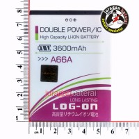 Baterai/battery Logon Elevate Y For Evercoss A66a 3600mah Double Power