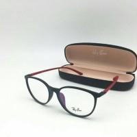 kacamata frame rayban 8152 hitam gagang merah
