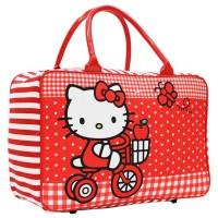 Travel Bag Anak Karakter Hello Kitty Bahan Kanvas - Merah