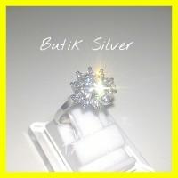 harga Cincin Bunga Matahari CW 096 Perhiasan Silver Perak 925 Lapis Emas Tokopedia.com