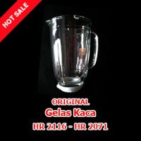 Sparepart Gelas Kaca Blender Philips HR 2115-2116-2061-2071 - Asli