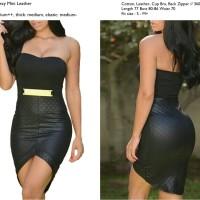 harga Sexy Mini Leather Party Dress Bodycon Kulit Hitam Import Murah Tokopedia.com