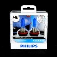 Bohlam / Lampu H11 Philips Diamond Vision 5000k 55watt