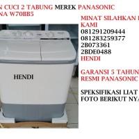 MESIN CUCI 2 TABUNG MEREK PANASONIC SERI NA W70BB