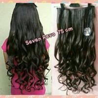 Jual hair clip/hairclip/hair klip curly 75cm/wig/ponytail Murah