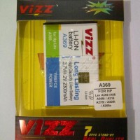 Battery Vizz Lenovo A369/A369i/A316/A316i 2300mAh Baterai Double Power