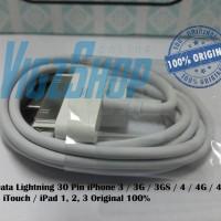 Cable Kabel Data iPhone 3/3G/3GS/4/4G/4S Lightning 30 Pin Original