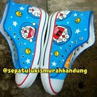 harga Sepatu Lukis Doraemon Sneaker Tinggi Tokopedia.com