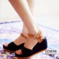 Jual Wedges Wanita / Sandal Sepatu Wedges Jeans Murah