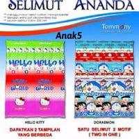 SELIMUT ANANDA/ BED COVER MOTIF ANAK-ANAK 2 GAMBAR