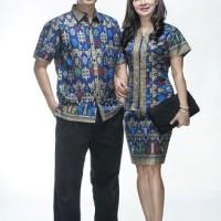 Sarimbit / Pasangan / Couple / Keluarga / Seragam Batik 1177 Biru