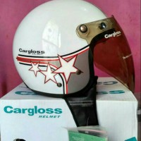 harga Helm Bogo Retro Cargloss Putih Bintang Classic Kaca Hiu Ori Tokopedia.com