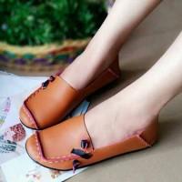 Sepatu Wanita Murah - Flat Shoes - US49 - Tan