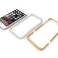 Capdase Alumor Bumper Casing for iPhone 6 Gold-White