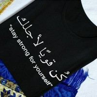 kaos fashion TUMBLR TEE T-shirt wanita arabic stay strong
