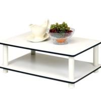 Funika - Coffee Table Putih 2 Tingkat