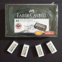 Penghapus faber-castell bebas debu warna putih