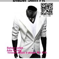Blazer SLIM FIT putih-Korea Style
