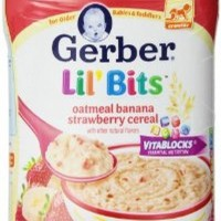 GERBER CEREAL LIL BITS OATMEAL BANANA STRAWBERRY