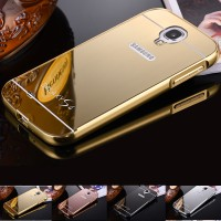 Metal Bumper Mirror Slide Back Cover Casing Case Samsung Galaxy S4